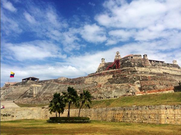 Картахена-де-Индиас в Колумбии, крепость сан-фелипе-де-барахас картахена