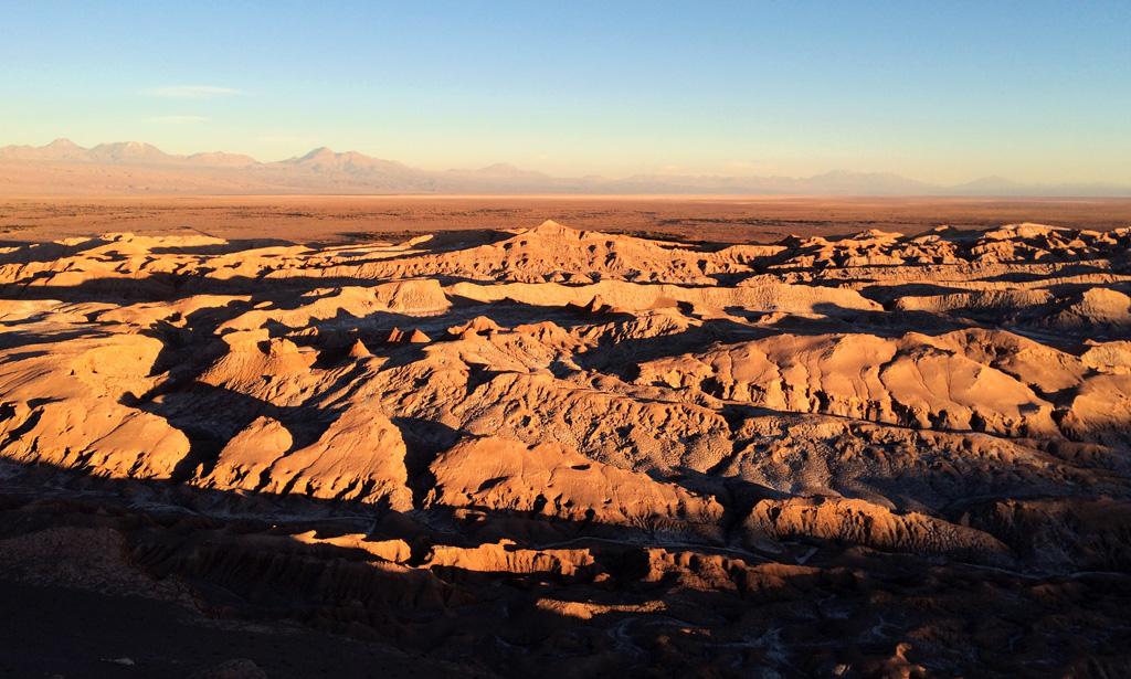 Атакама Долина Луны в Чили на закате, отзыв в блоге