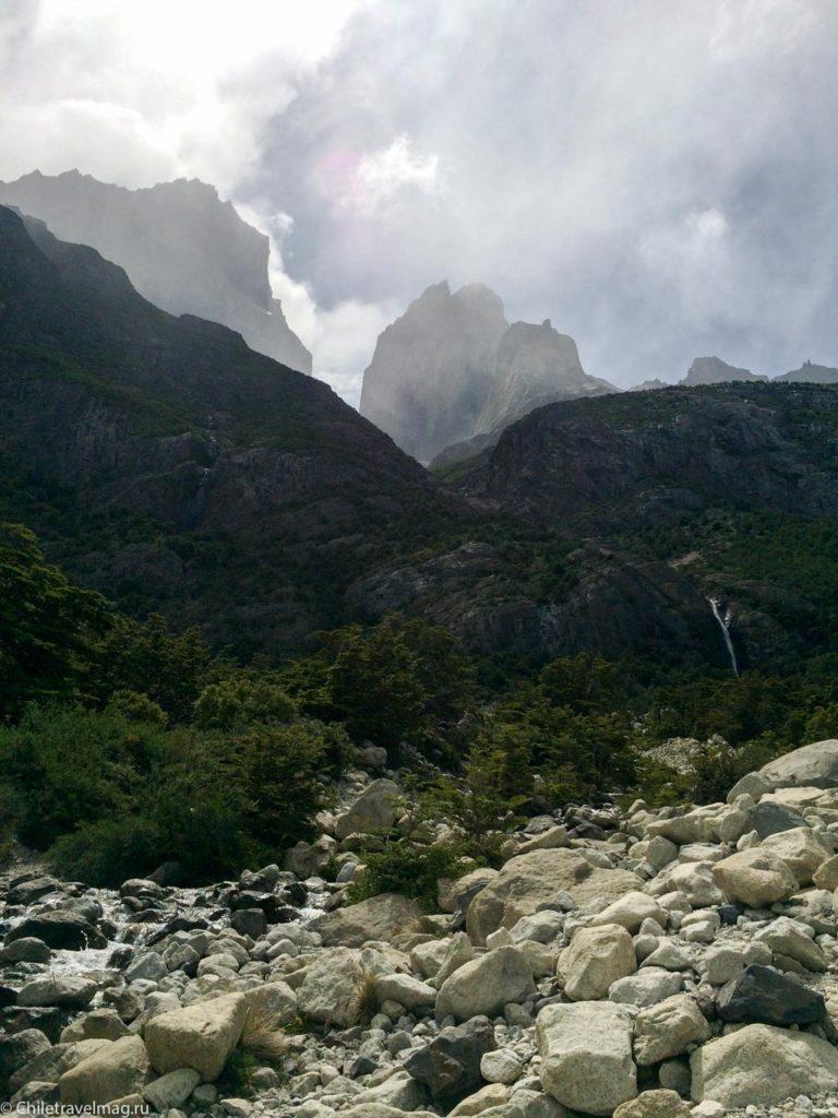 W трек в парке Торрес-дель-Пайне