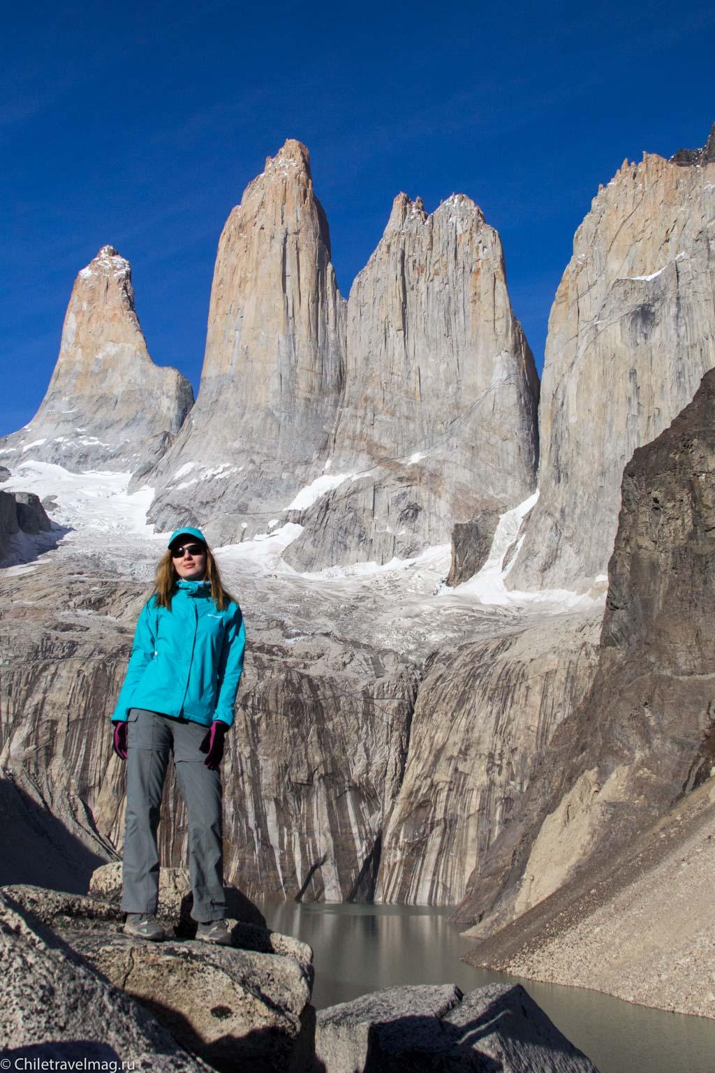 Треккинг к башням Лас-Торрес в Торрес-дель-Пайне, Чили