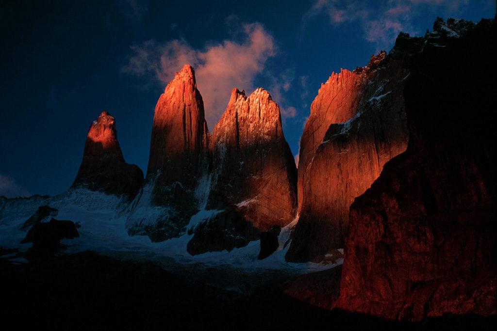 Три башни Лас Торрес в Торрес-дель-Пайне
