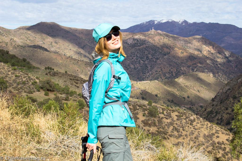 треккинг в горах в Чили - Анды