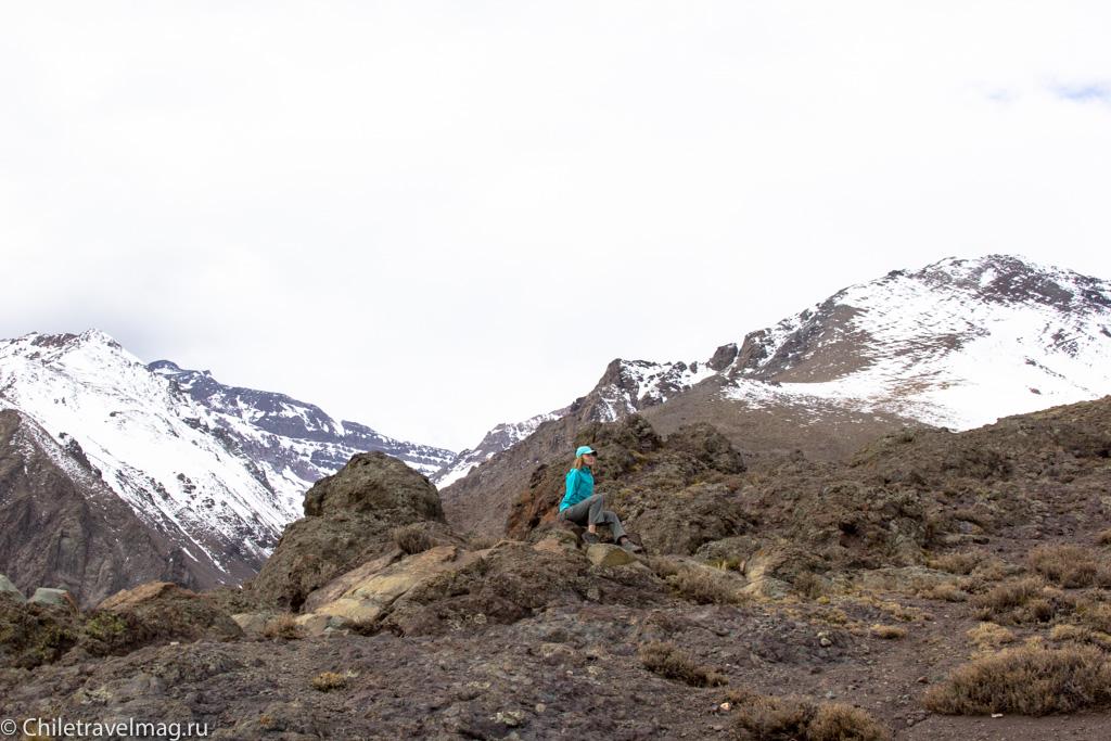 треккинг в горах в Чили