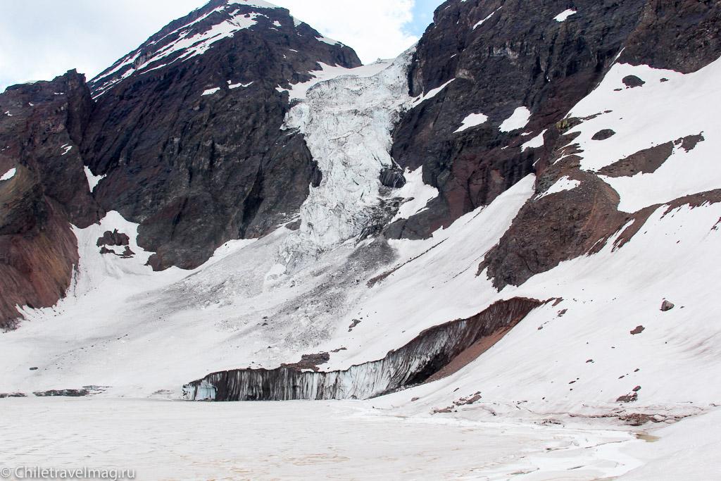 ледник эль морадо в Чили glaciar el morado chile
