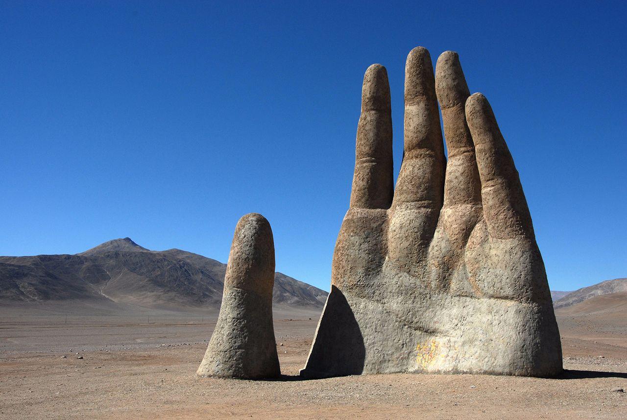 рука пустыни атакама чили