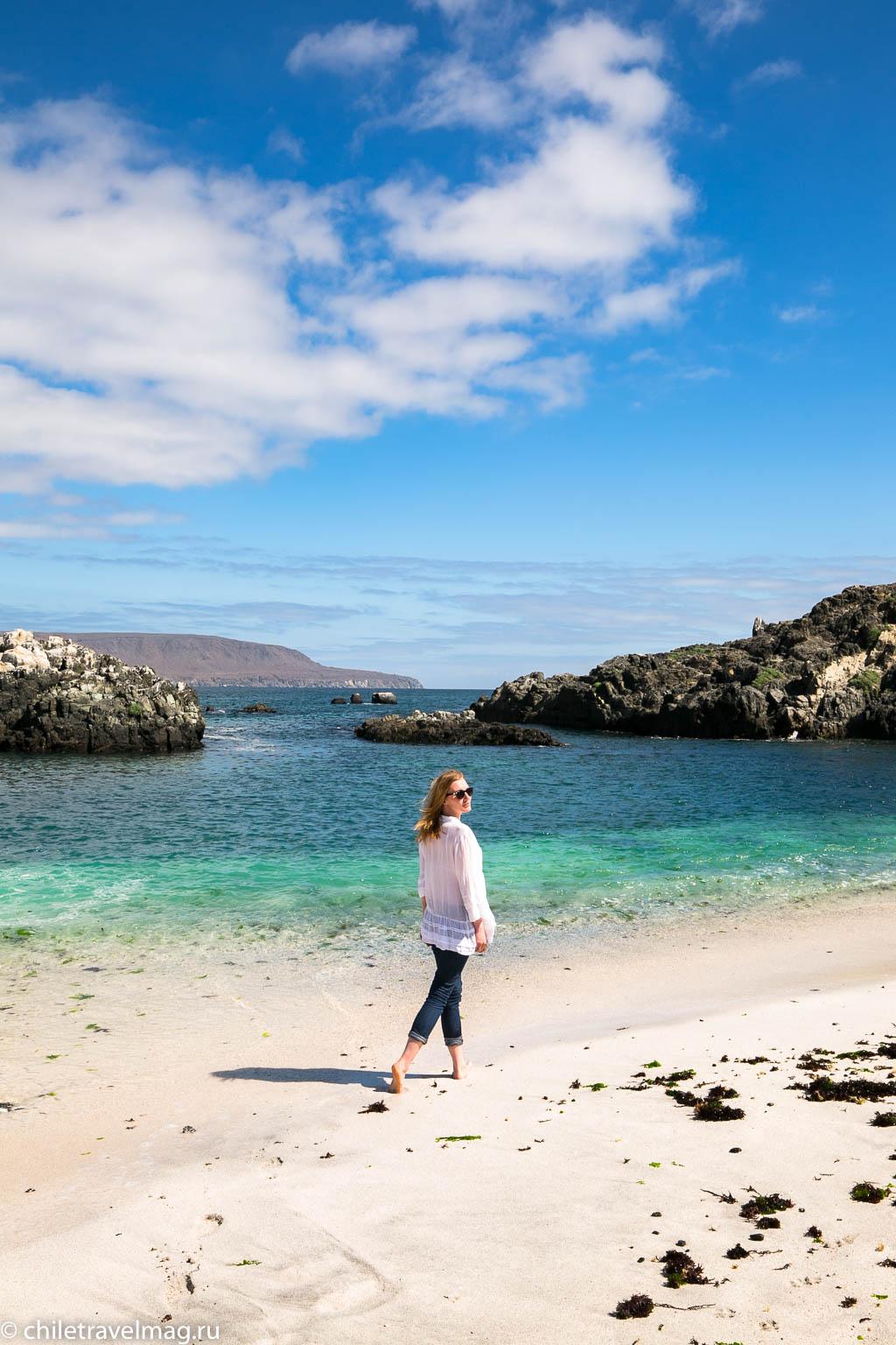 Баия Инглеса пляж в Чили11