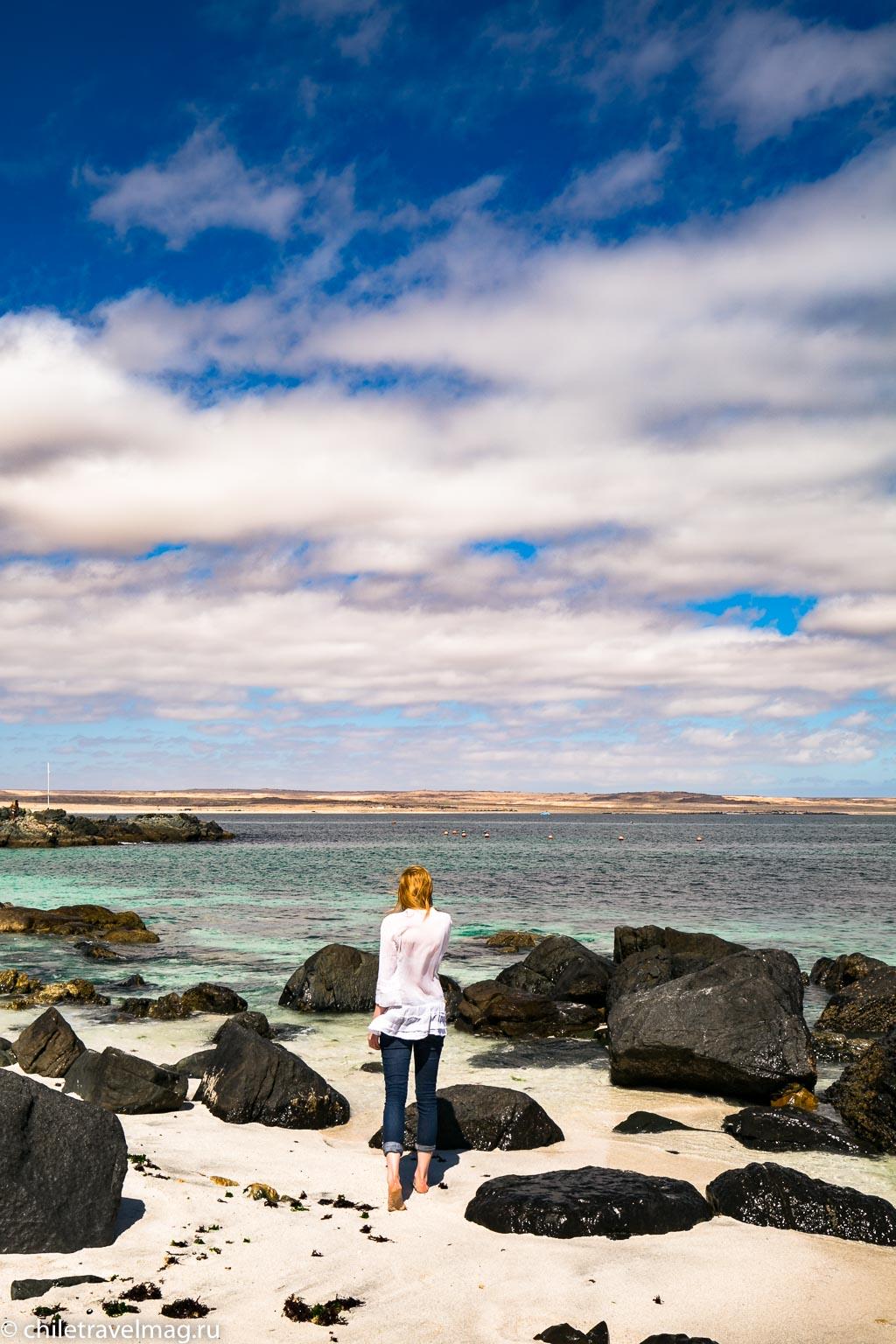 Баия Инглеса пляж в Чили13