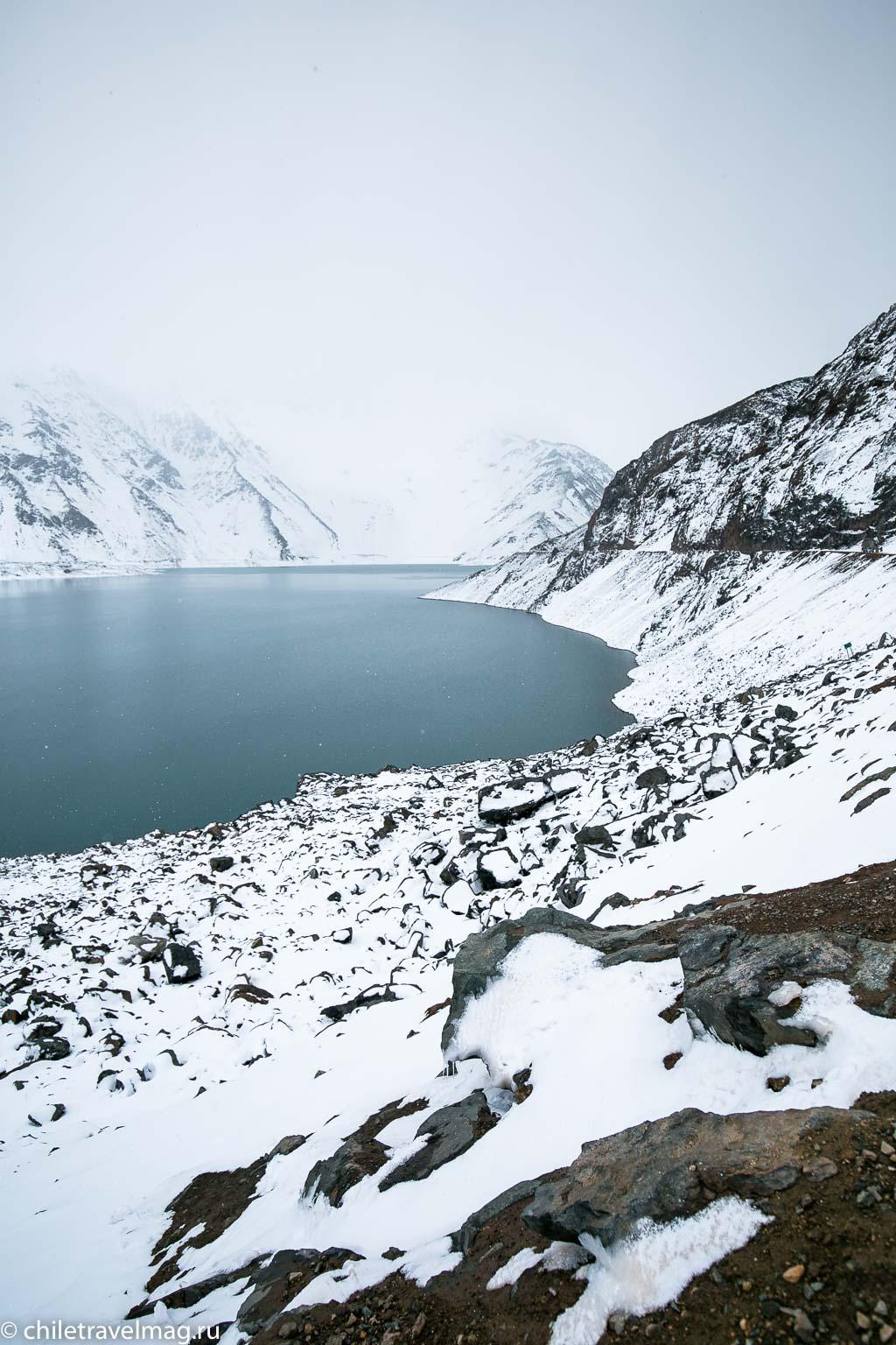 Горное водохранилище в Андах Чили15