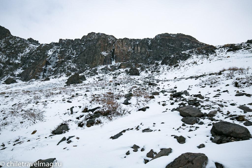Горное водохранилище в Андах Чили3