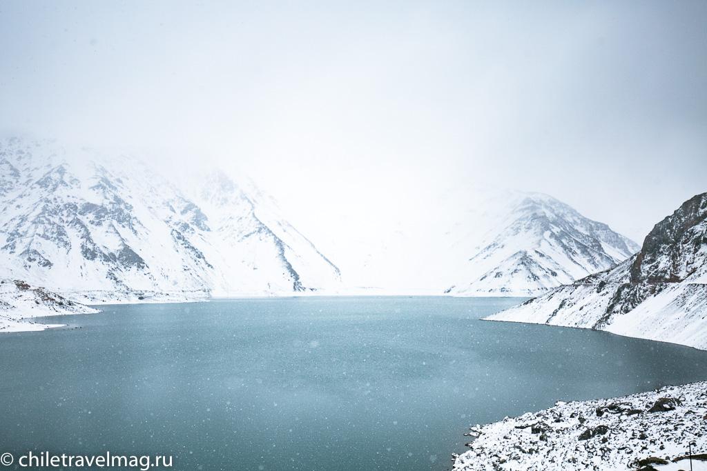 Горное водохранилище в Андах Чили7
