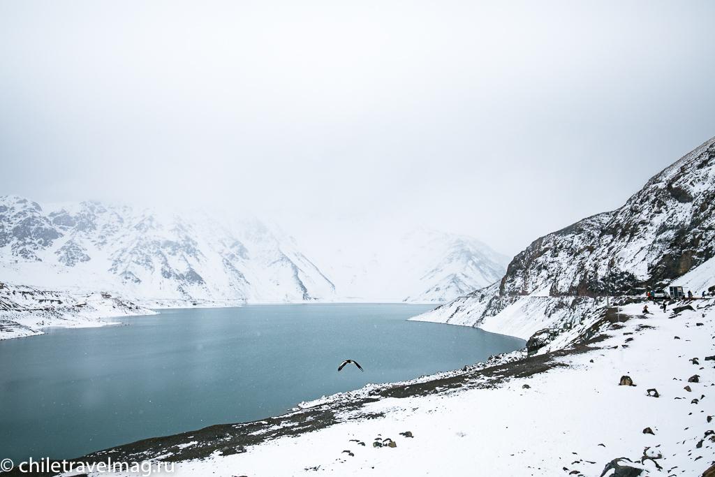Горное водохранилище в Андах Чили8